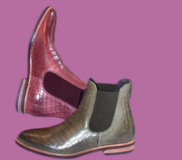 Chealsea Ankle Boots Krokoleder