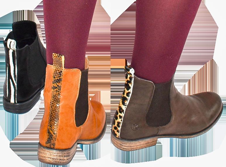 Animal Print Stiefeletten chelsea boots