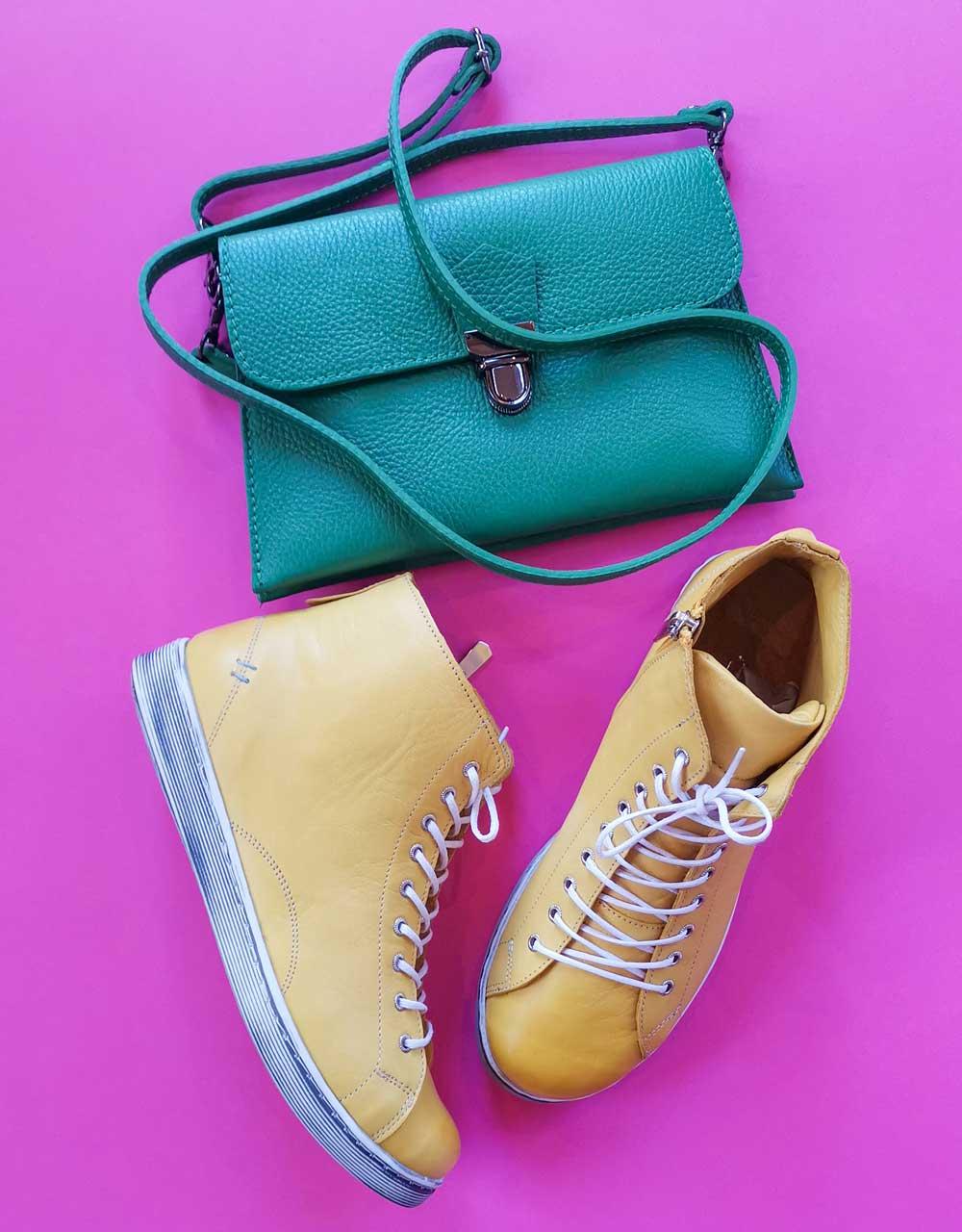 Sneaker Andrea Conti gelb