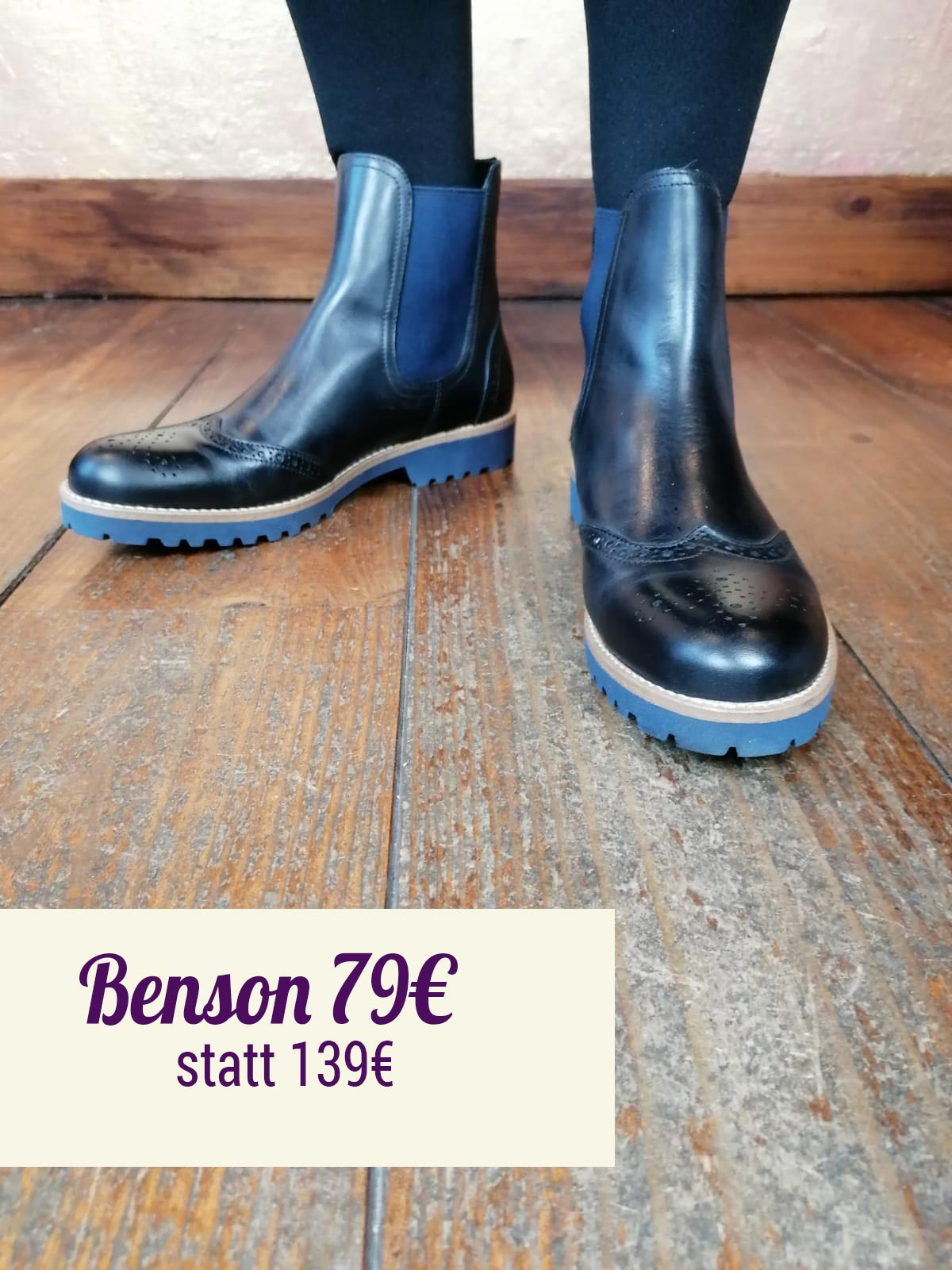 Benson goiia nero Stiefelette