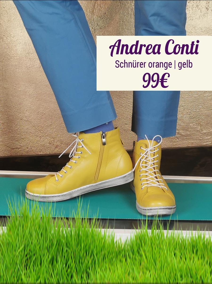 Andrea Conti Schnürer gelb