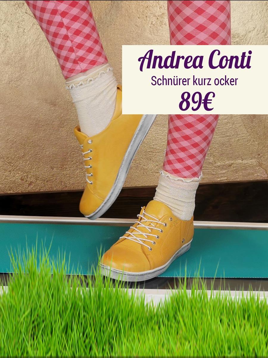 Andrea Conti Schnürer kurz ocker