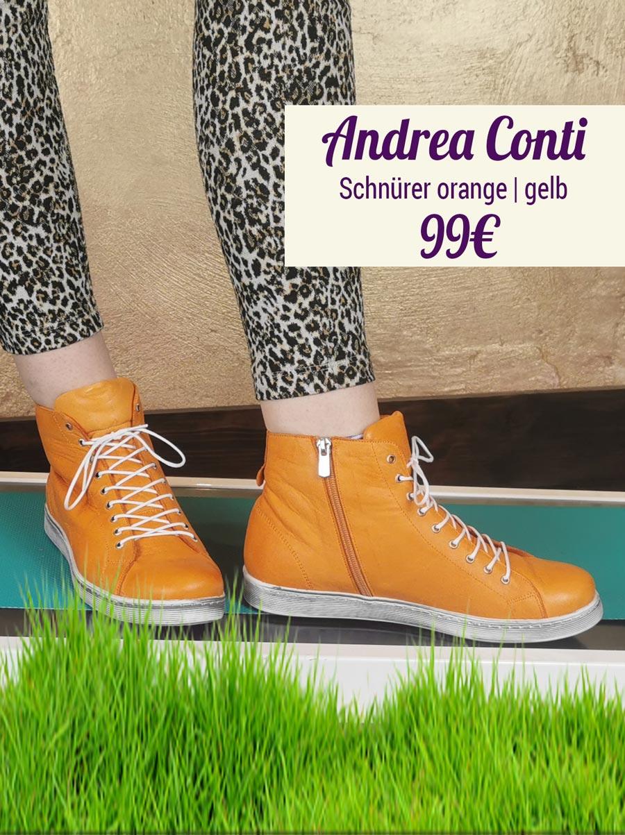 Andrea Conti Schnürer orange gelb