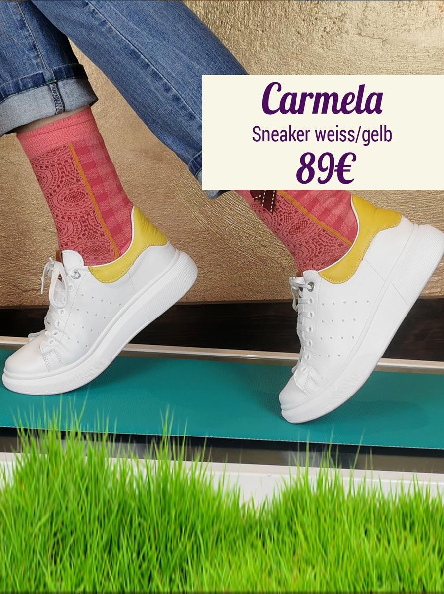 Carmela Sneaker weiss-gelb
