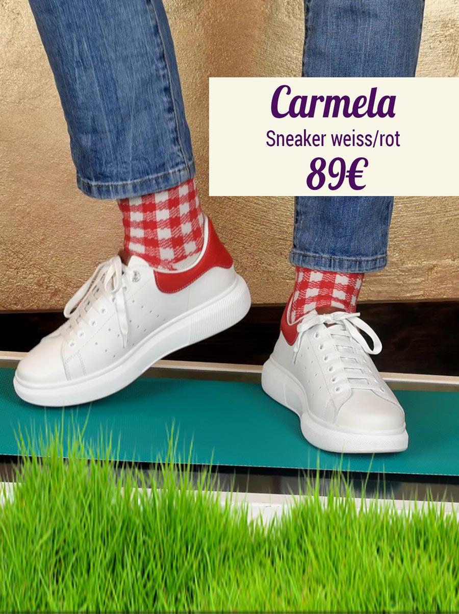 Carmela Sneaker weiss-rot