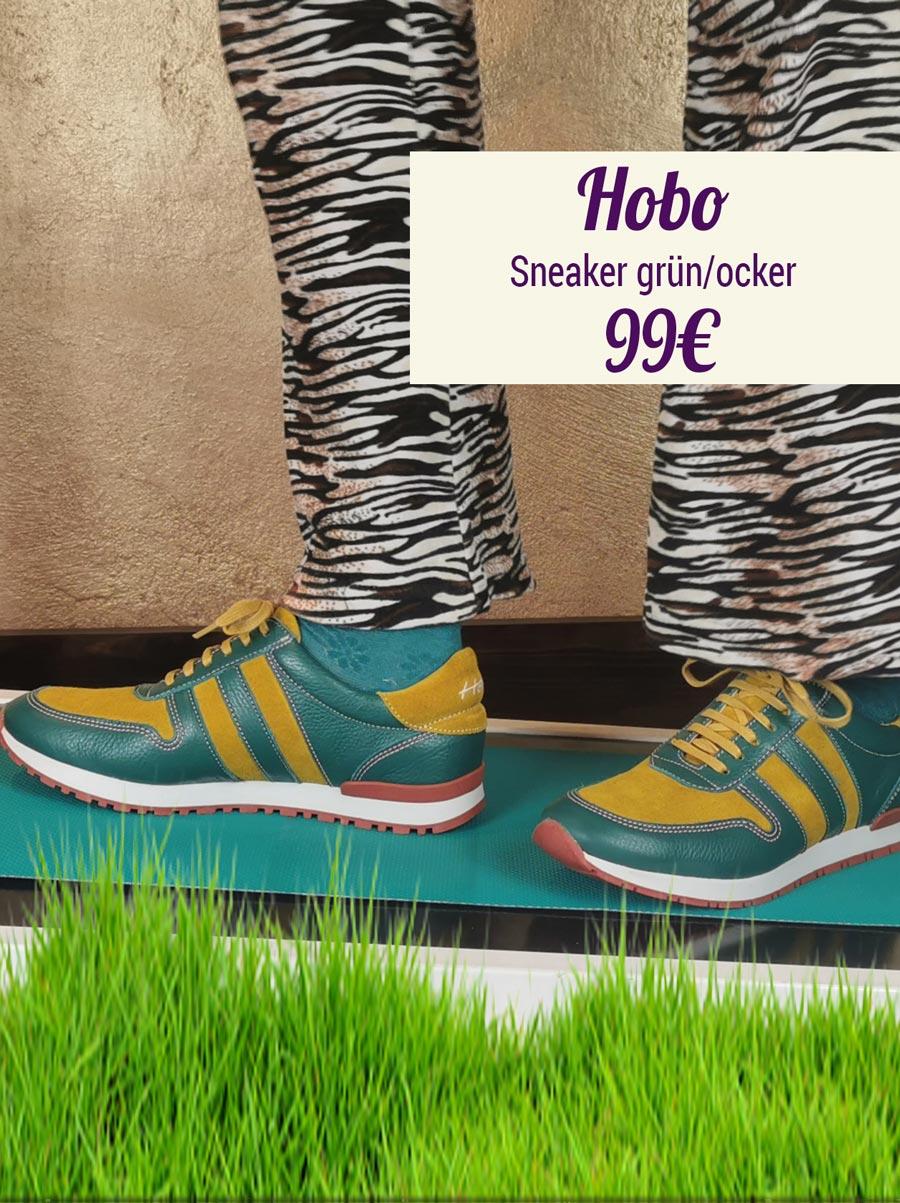 Hobo Sneaker grün-ocker