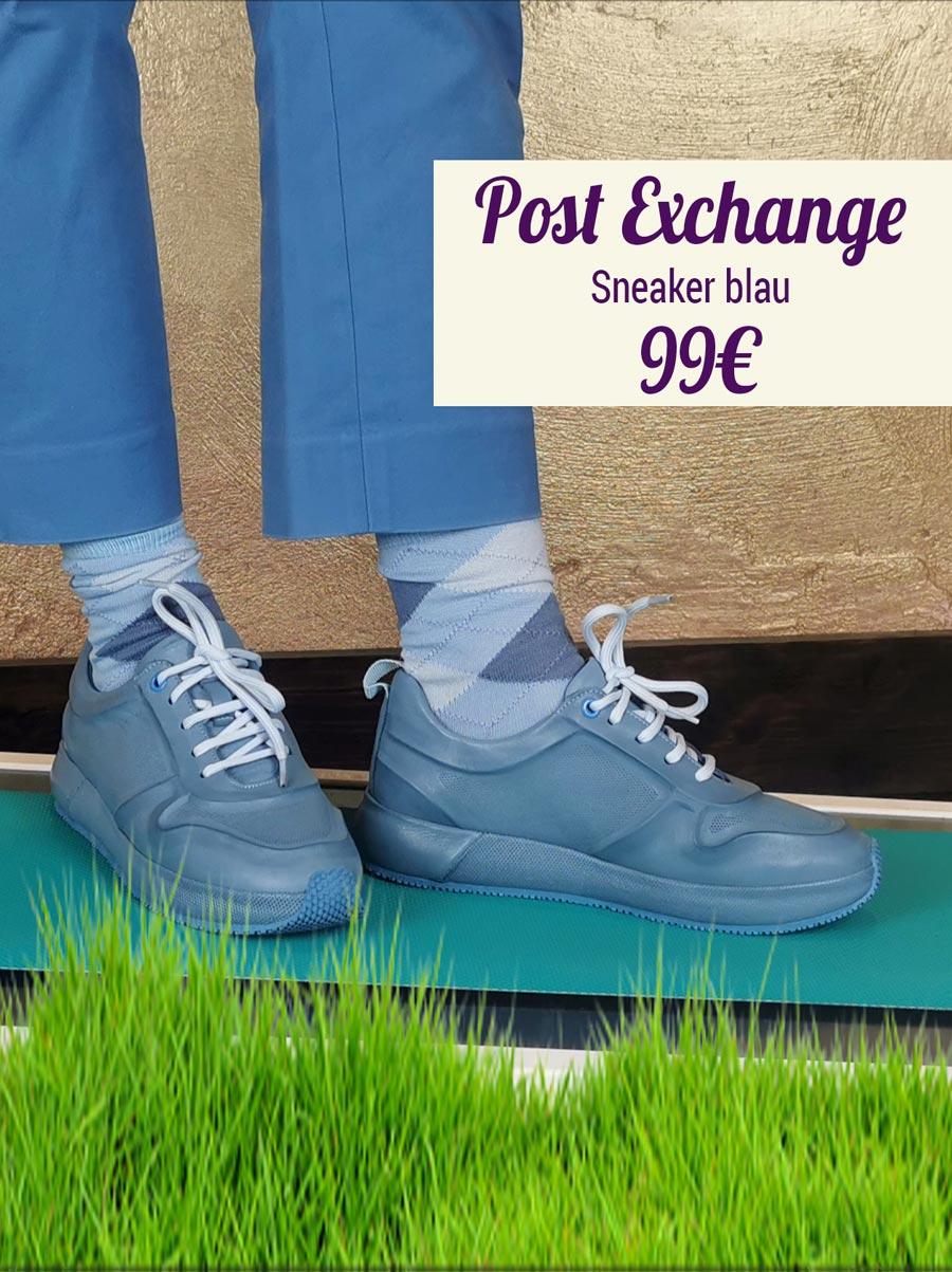 Post Exchange Sneaker blau