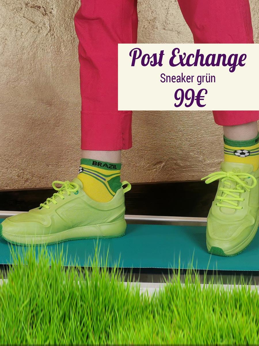 Post Exchange Sneaker grün