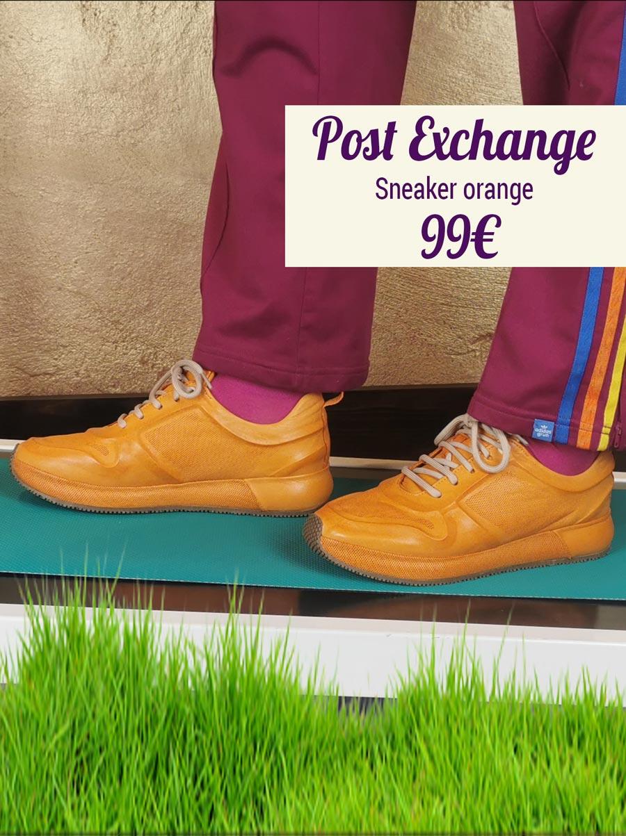 Post Exchange Sneaker orange
