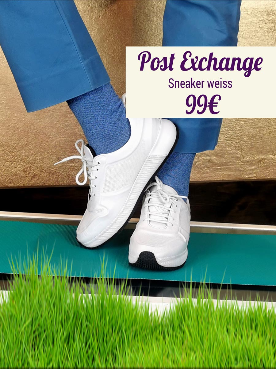 Post Exchange Sneaker weiss