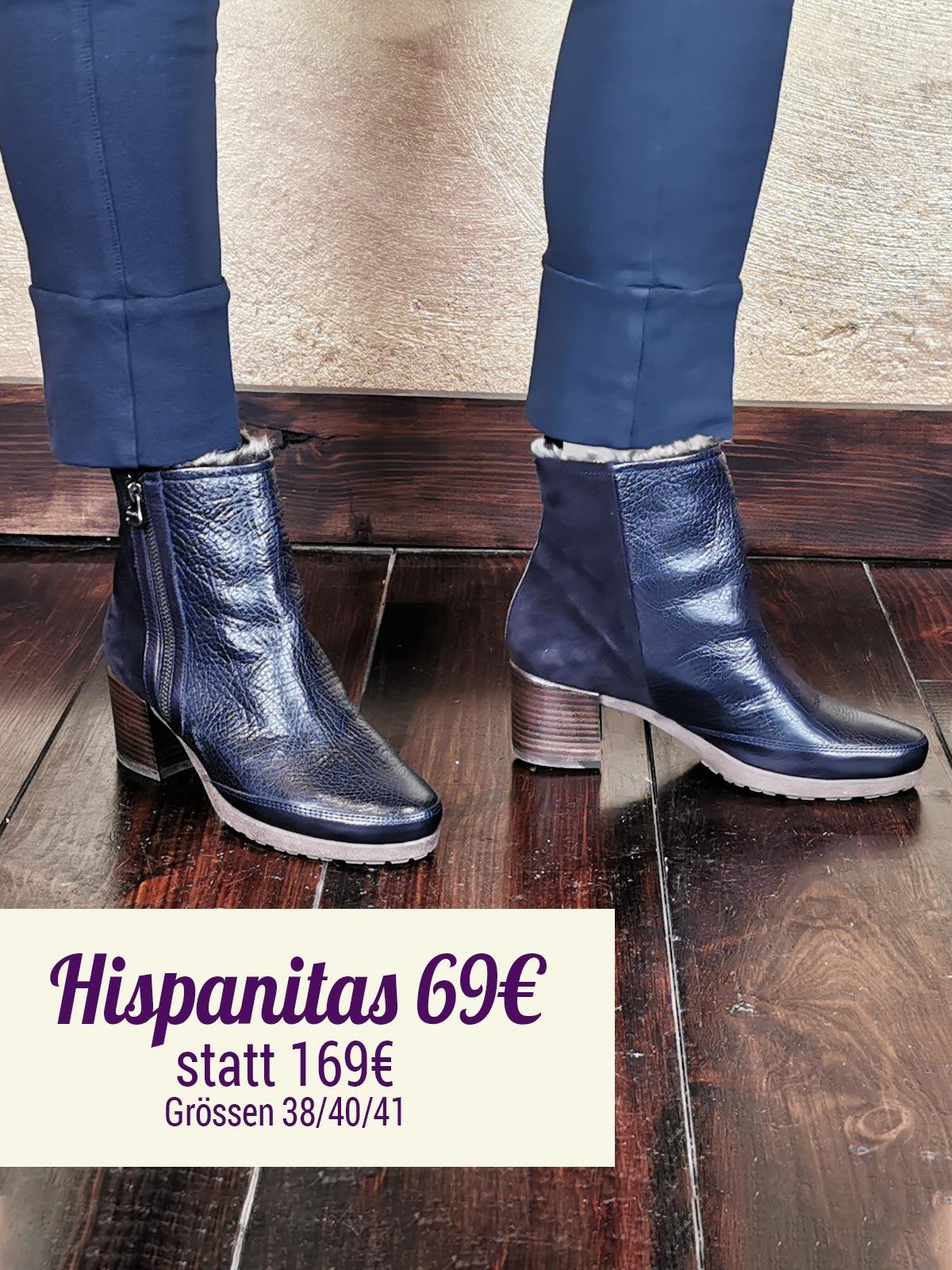 Hispanitas Stiefelette blau