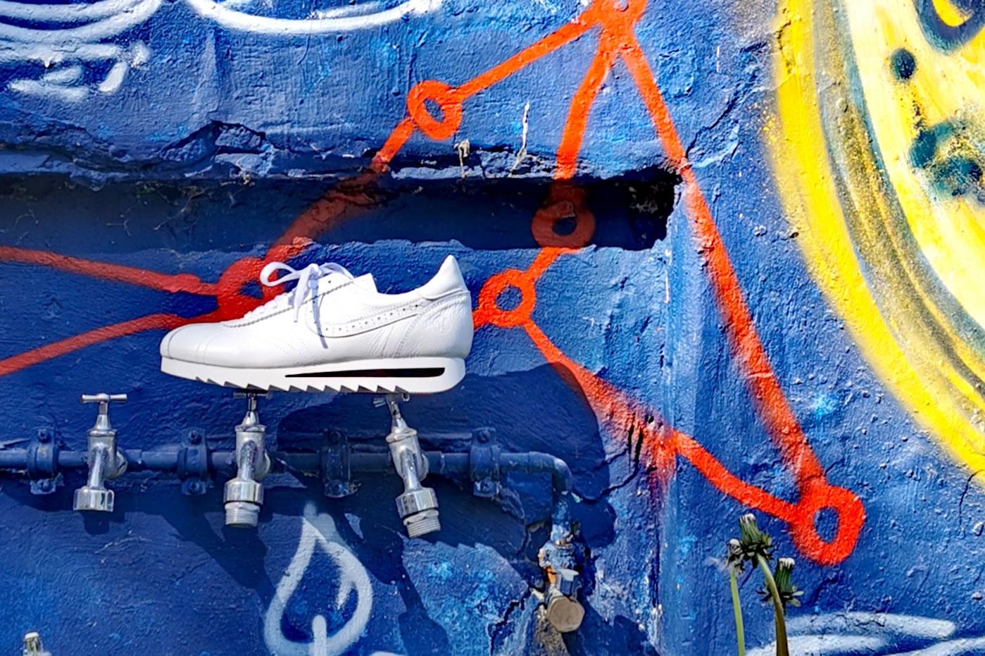 Post Exchange Ledersneaker white 99.-€