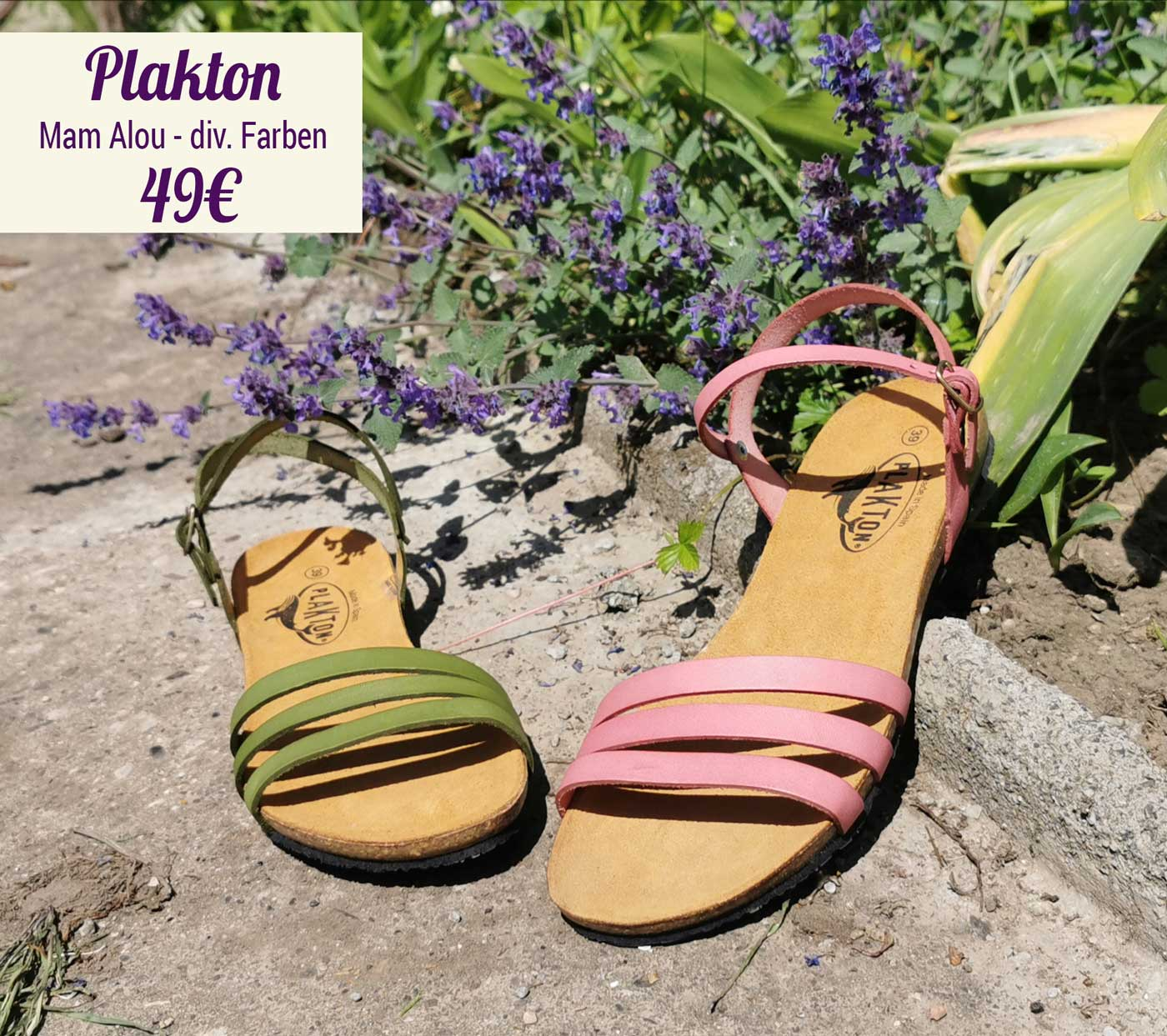 Sandale - Mam Alou gruen rose